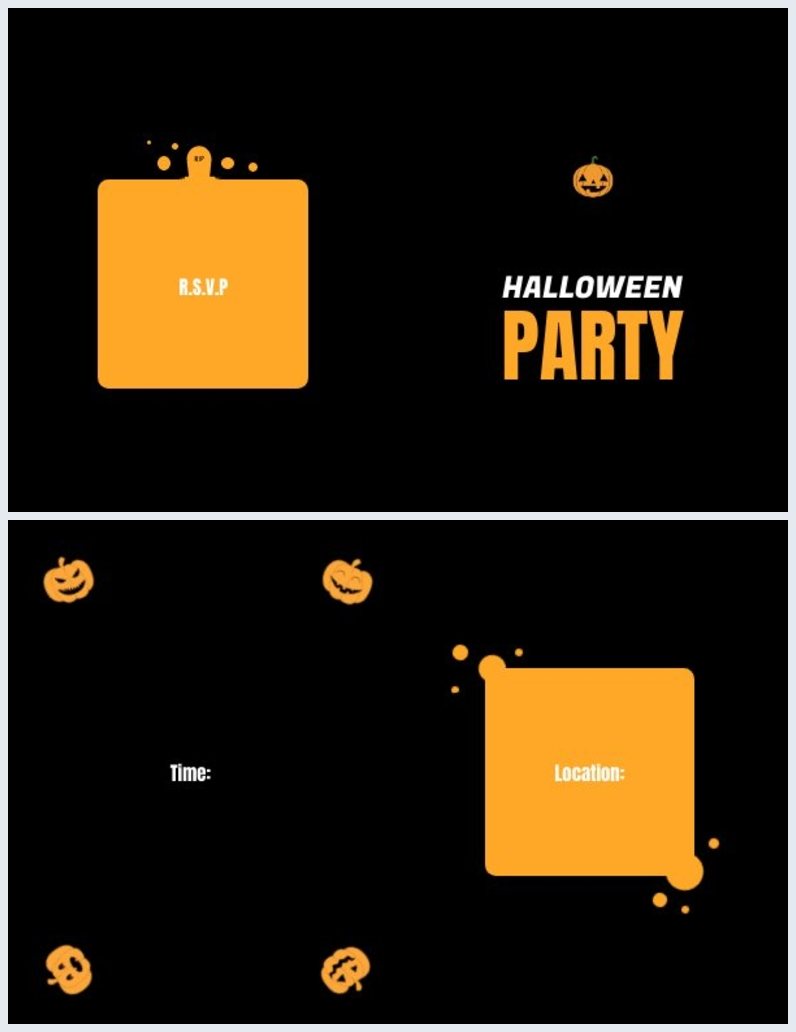 Blank Halloween Invitation Design Layout