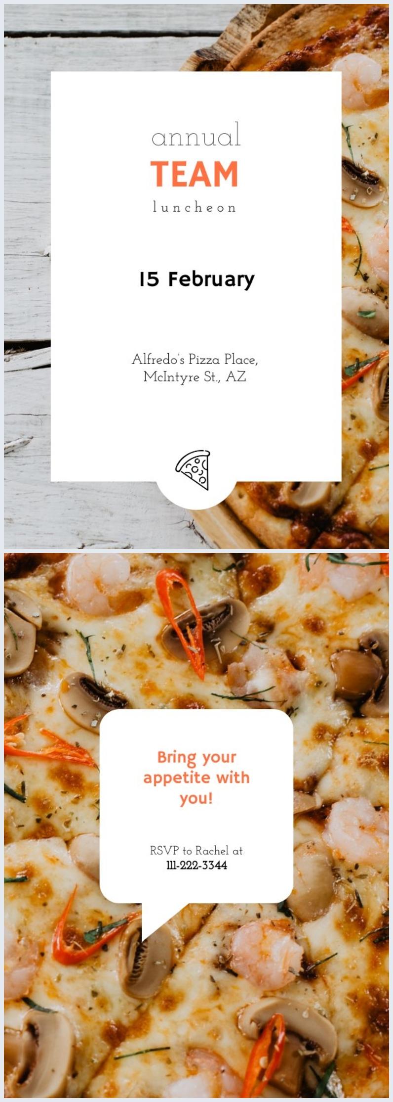 Lunchparty-Einladungs-Design