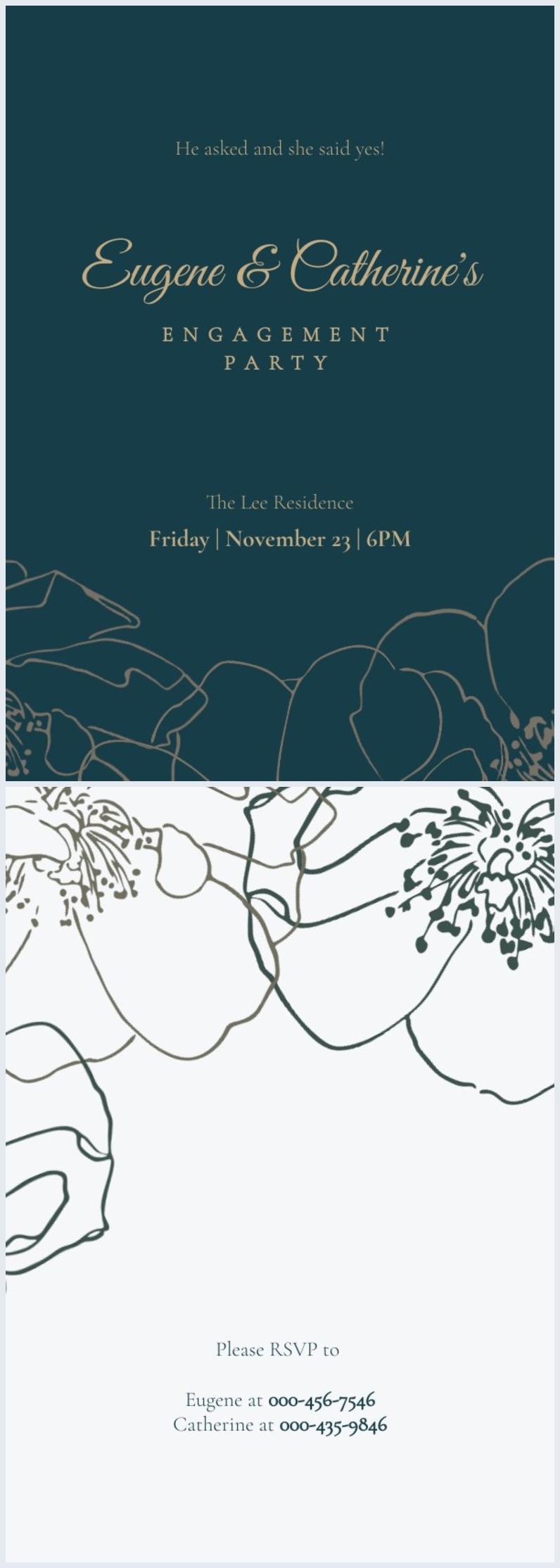 Engagement Invitation Design Idea