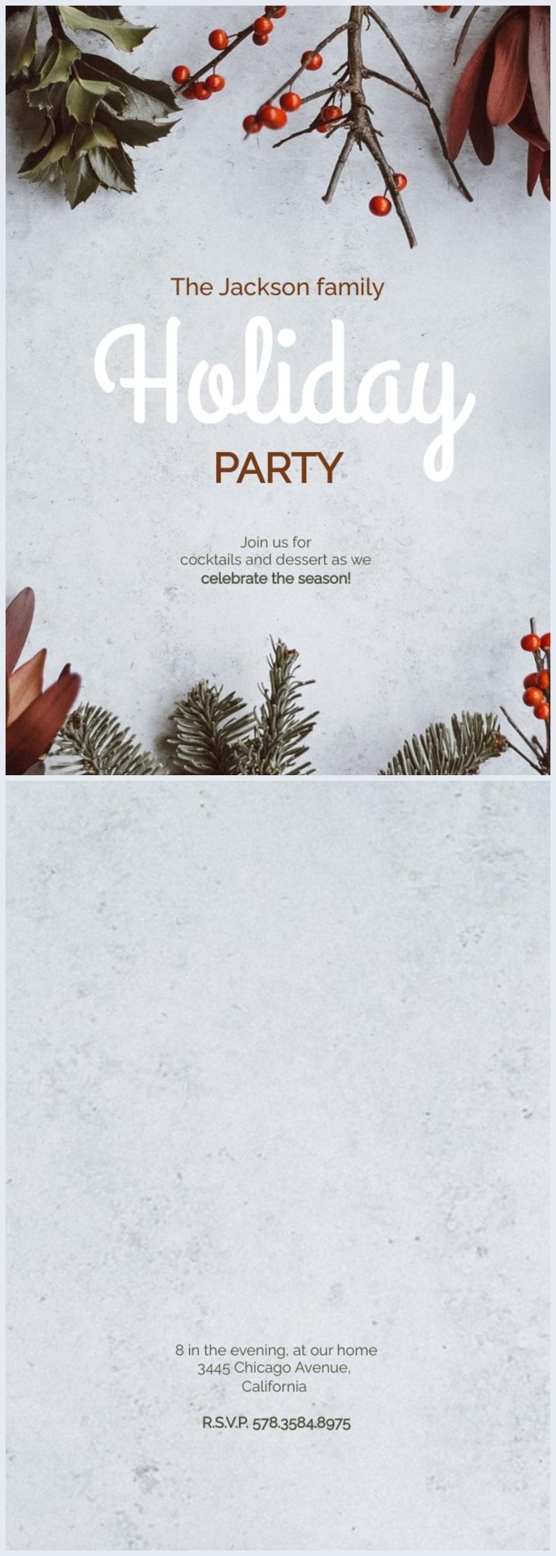 Diseño gratuito para invitación de Días festivos