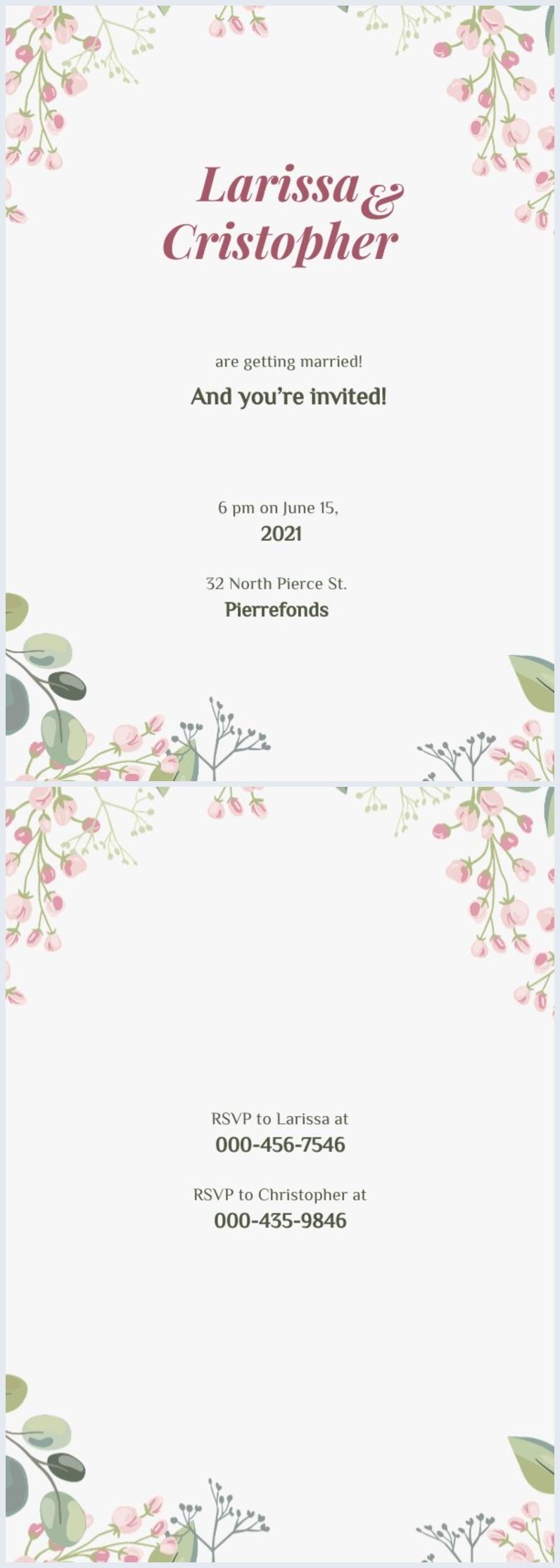 Doe-Het-Zelf Bruiloft Uitnodiging Ontwerp Lay-out