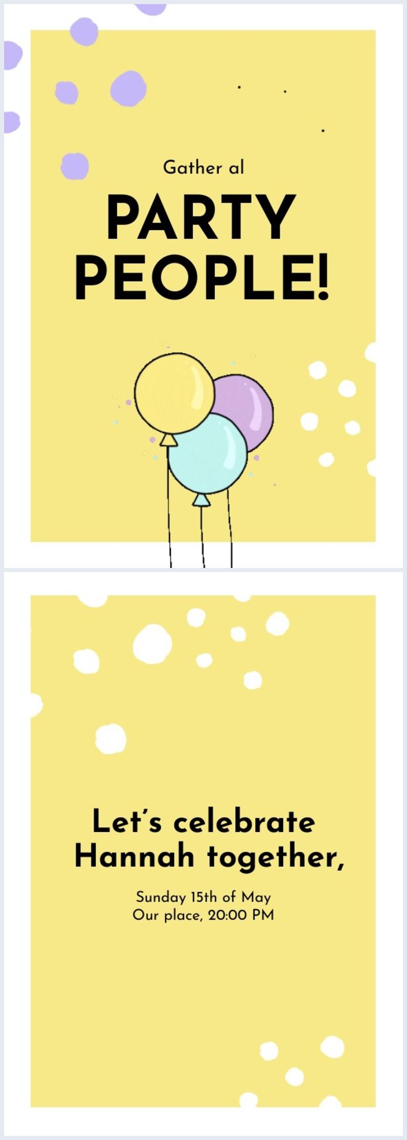 Mise en page et design d'invitation de fête d'anniversaire gratuit