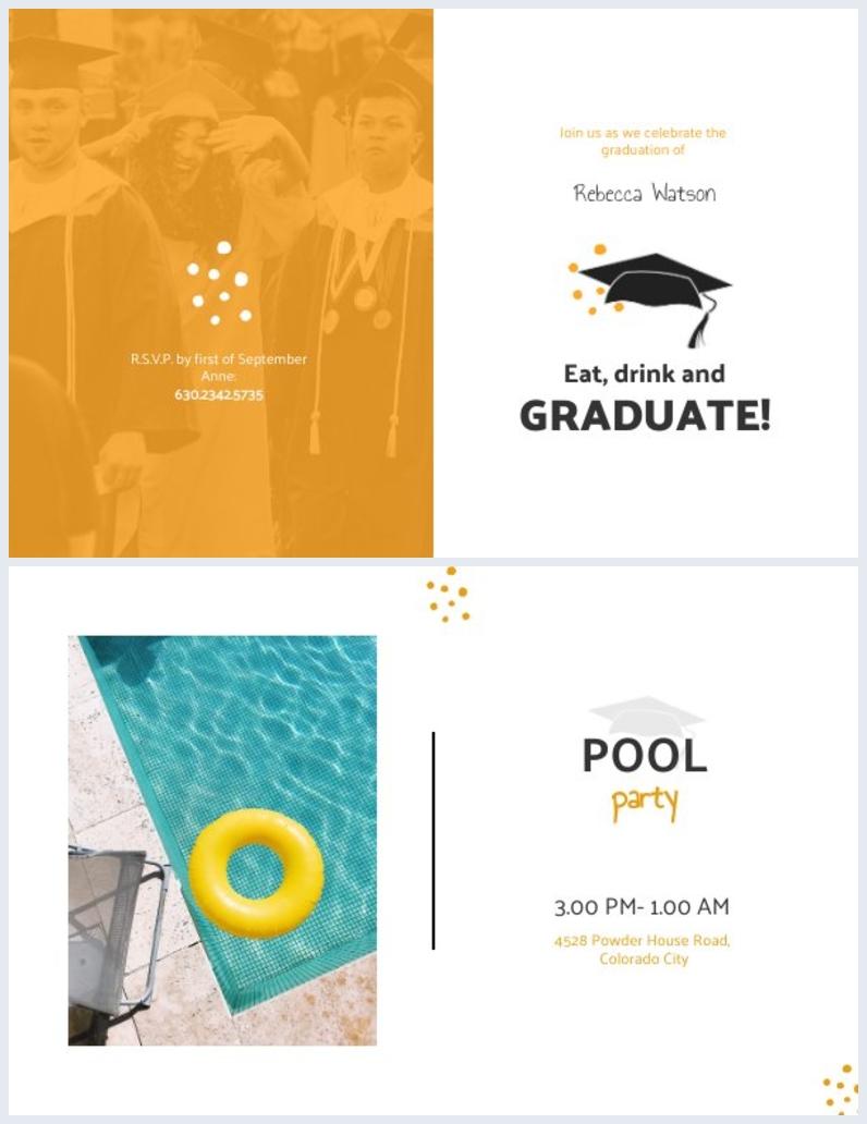 Inspiración de diseño para invitación de graduación de egresados