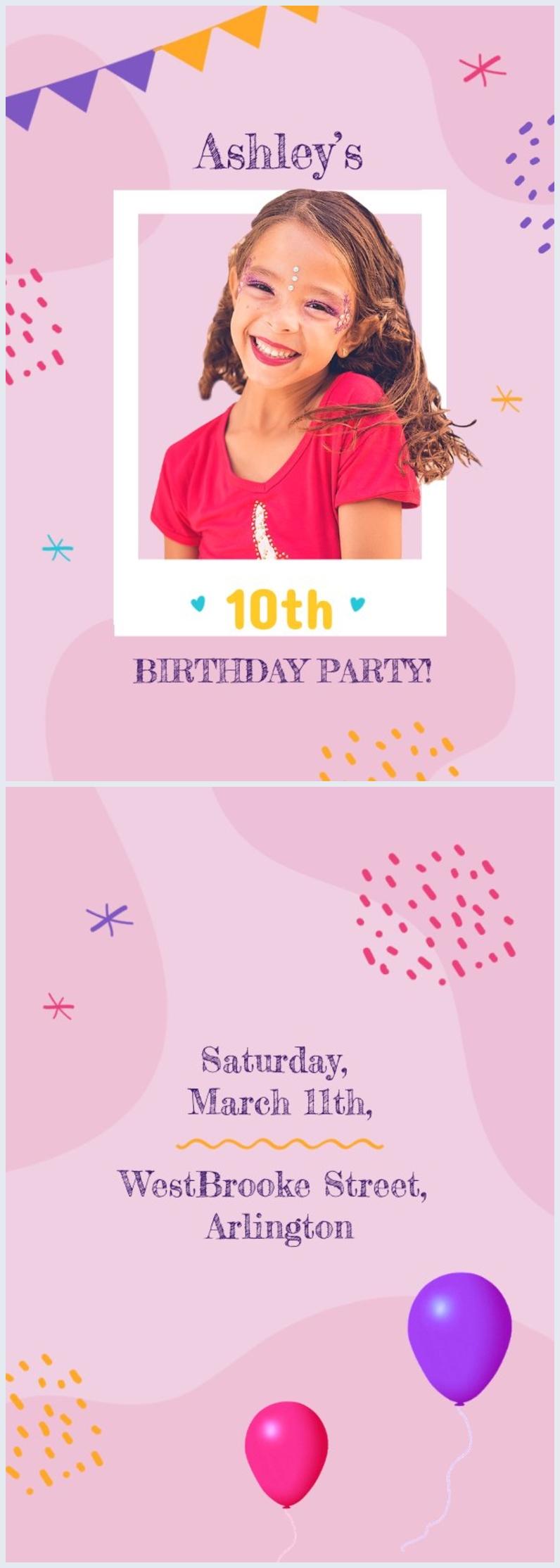 Einladungs-Design zum Kindergeburtstag