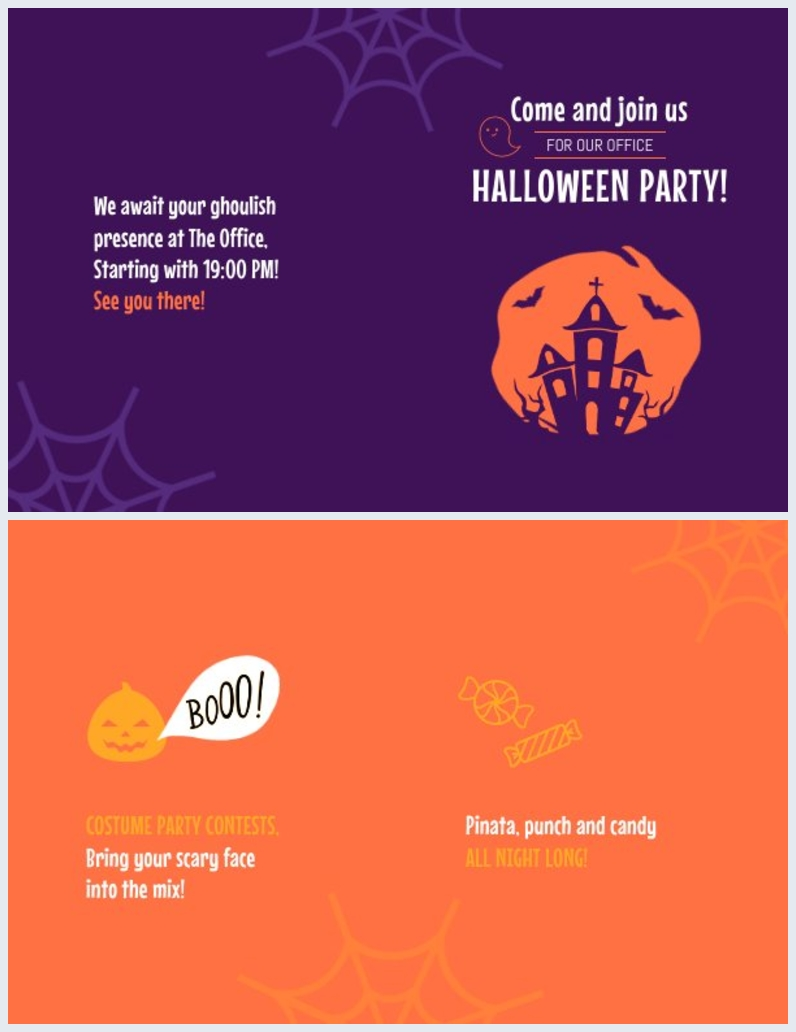 Design d'invitation de fête d'Halloween