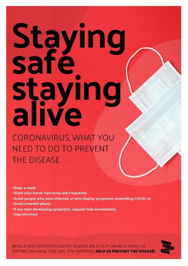 Beispiel-Design für ein Coronavirus-Poster