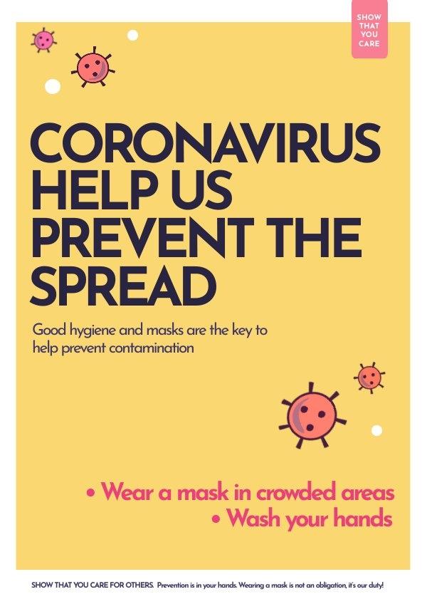Coronavirus Informatie Poster Ontwerp