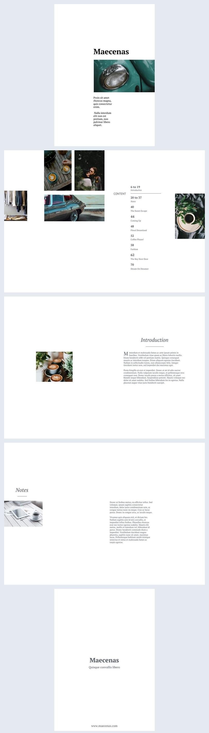 Minimalistische Werbebroschüre