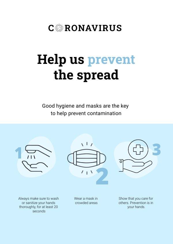 Informatief Coronavirus Poster Ontwerp