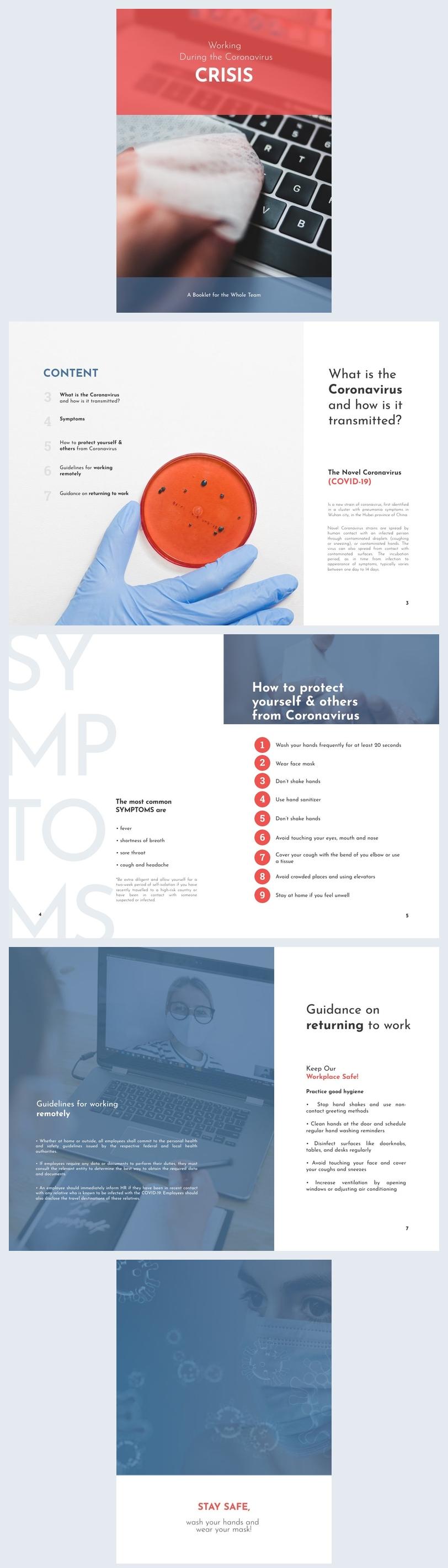 Professional Coronavirus Booklet Design