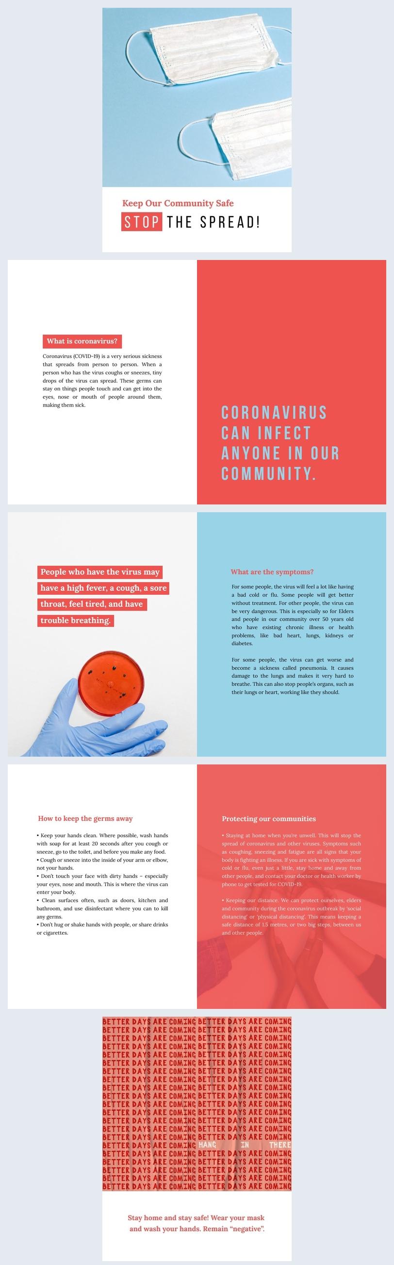 Ejemplo de cuadernillo profesional del Coronavirus