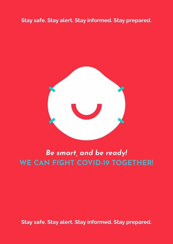 Concepto de diseño para cartel del Coronavirus para tienda