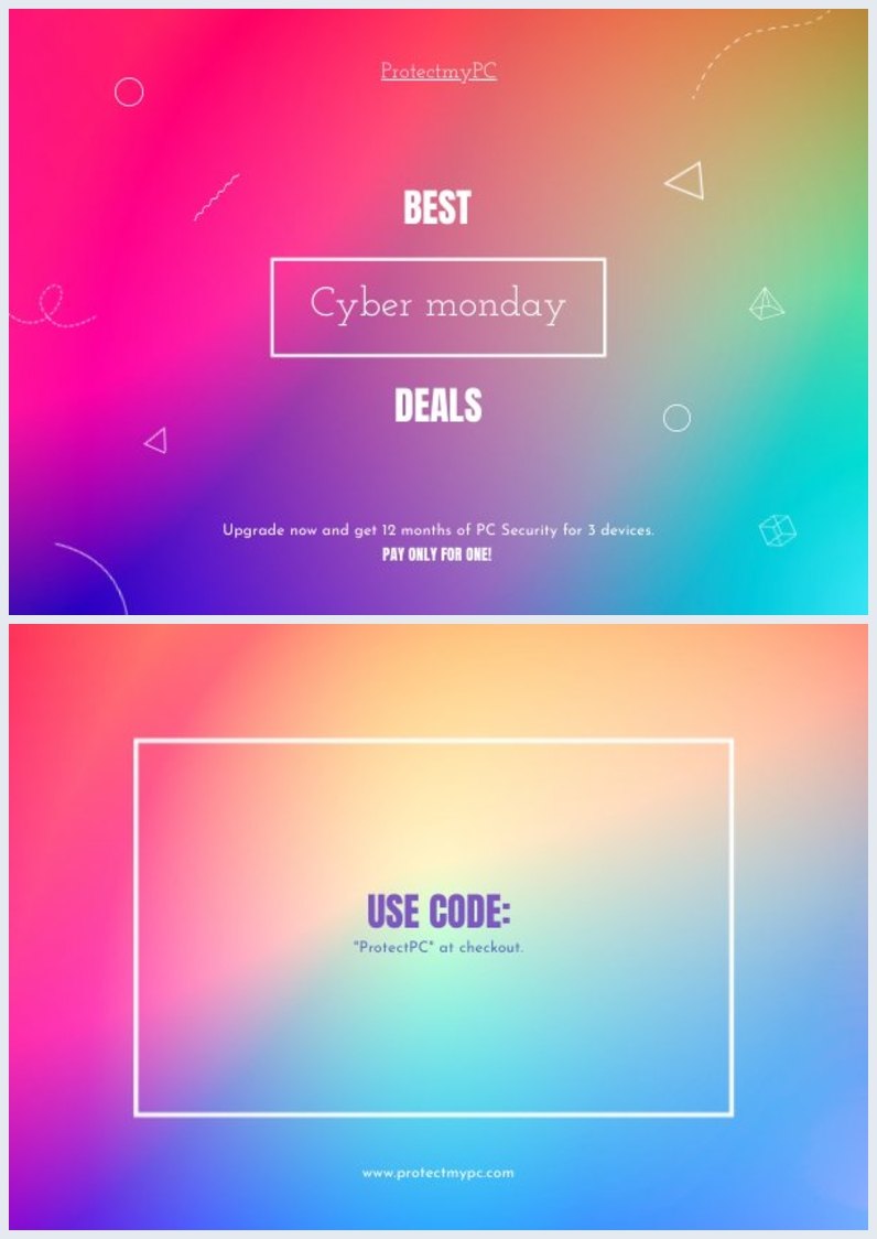 Cyber Monday Deals Flyer Voorbeeld