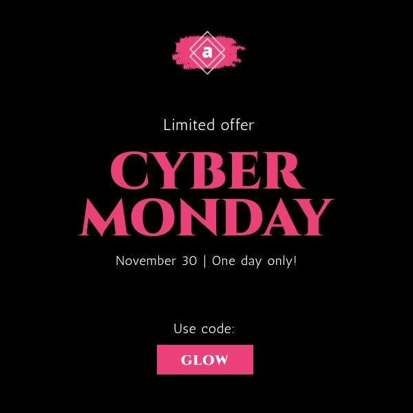 Design d'affiche meilleures offres promotionnelles Cyber Monday