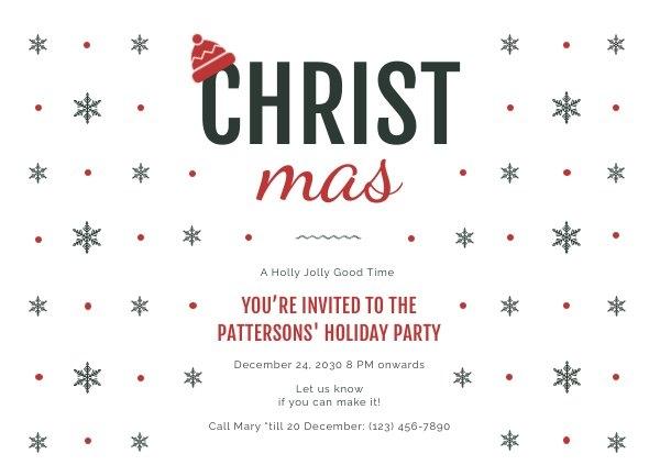 Esempio di grafica per invito alla festa di Natale