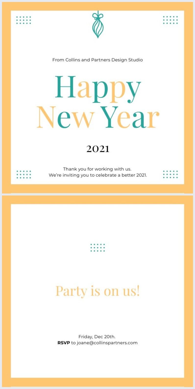 Happy New Year Party Invitation Template Flipsnack