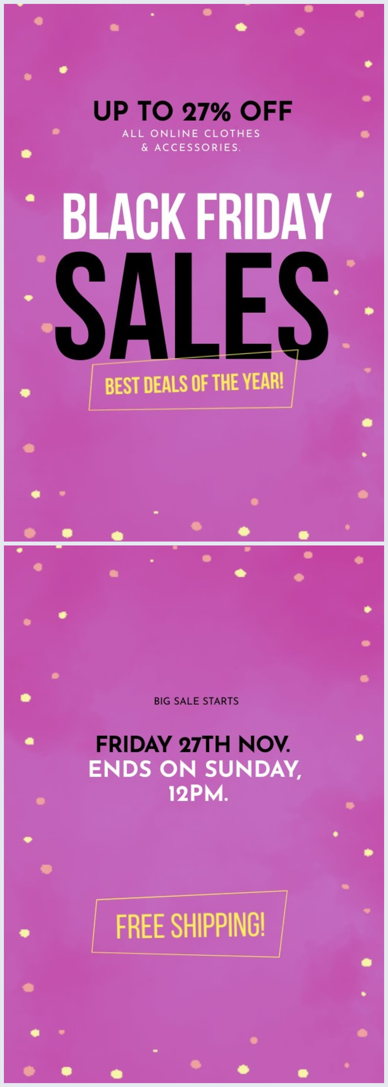 Exemple de mise en page et design de flyer promotionnel Black Friday
