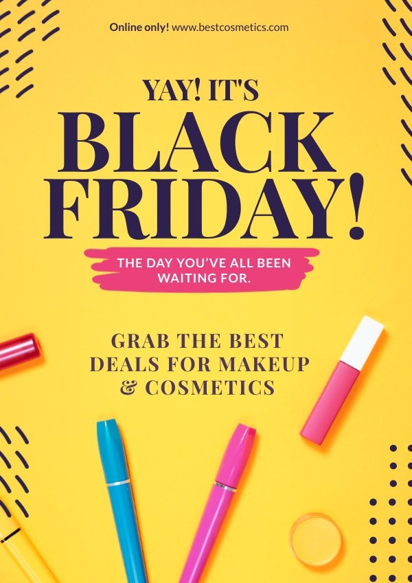 Esempio di layout per poster del Black Friday