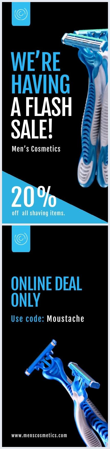 Flash Sale Flyer Ontwerp Voorbeeld
