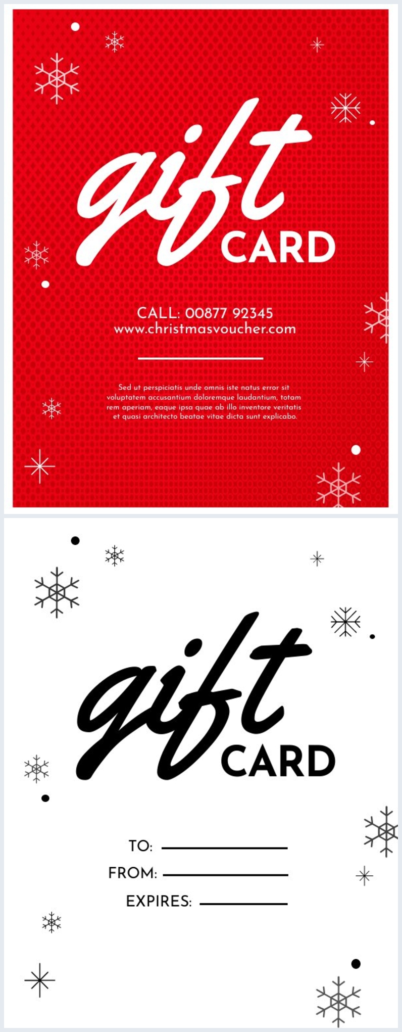 Christmas Gift Card Design Idea