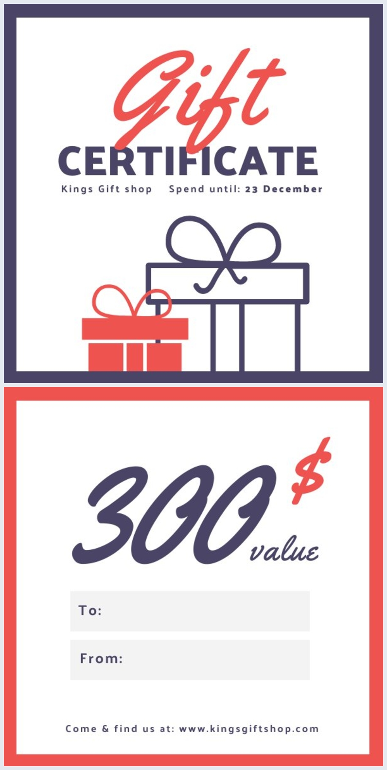 Christmas Gift Certificate Design