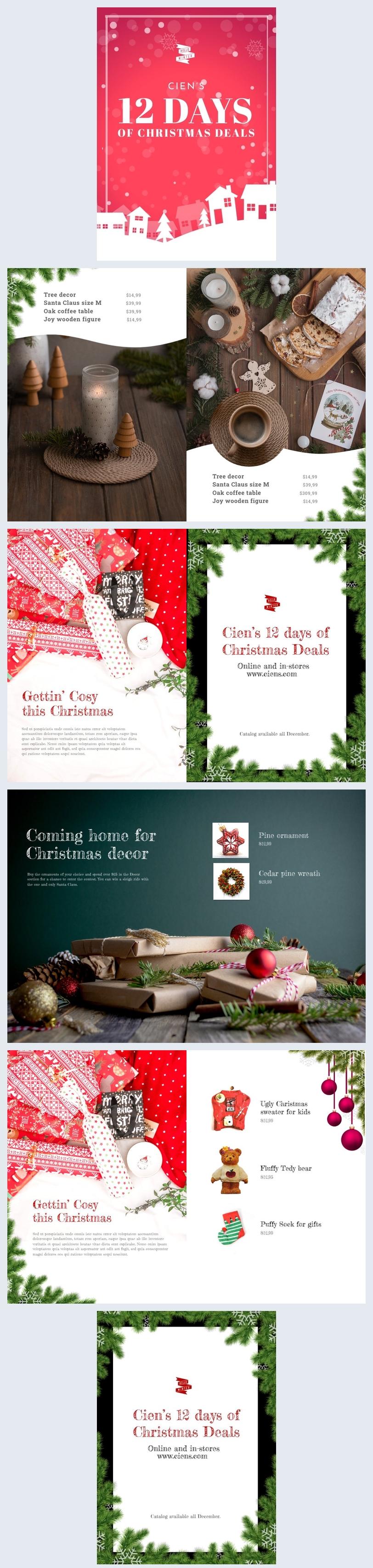 Produktkatalog-Design für Weihnachten