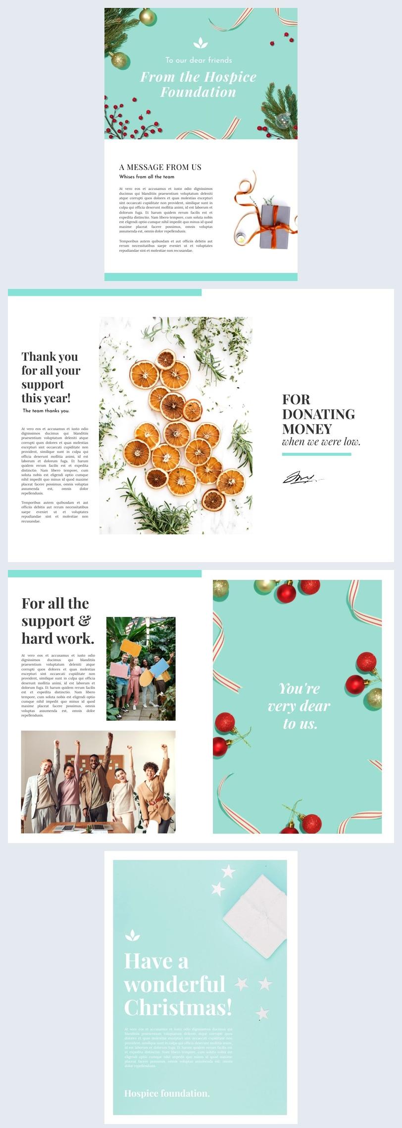 Design de newsletter de Noël professionnelle créative