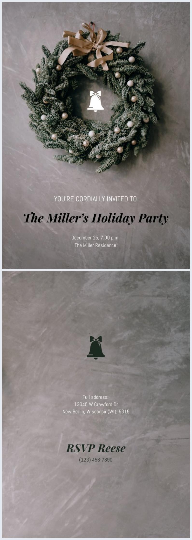 Minimalistisches Weihnachtsfeier-Flyer-Design