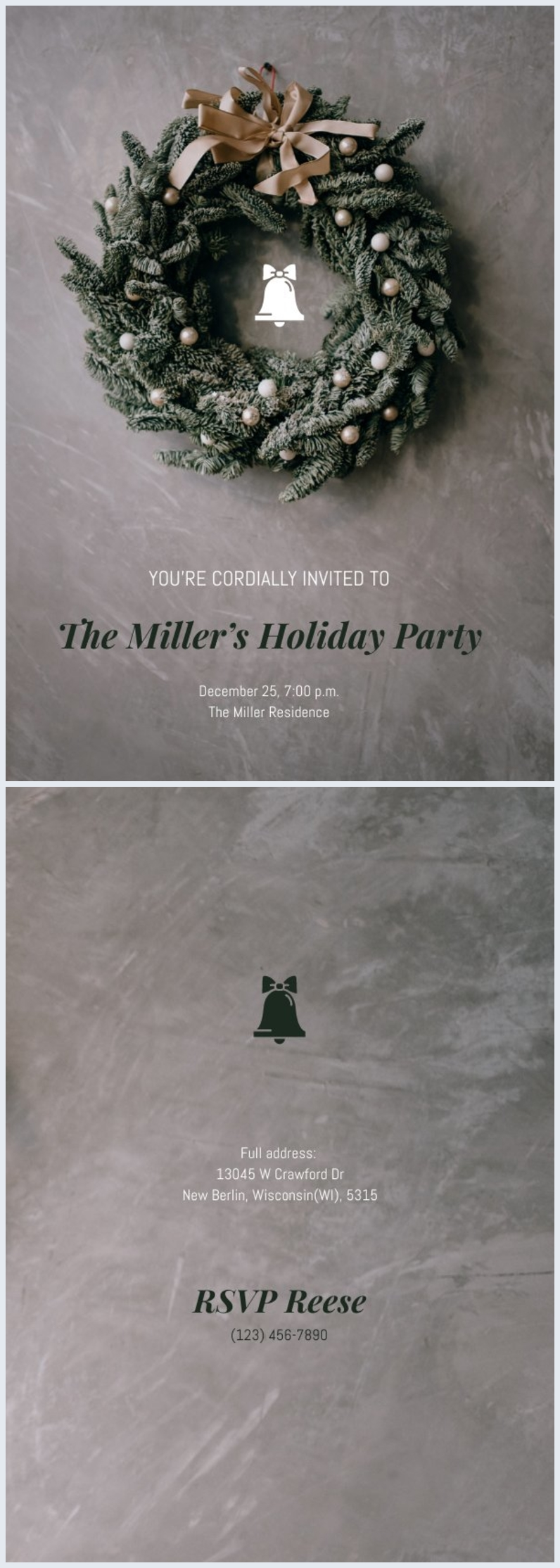 Grafica minimal per volantino della festa di Natale