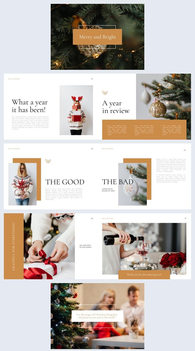 Modernes Weihnachts-Präsentationsdesign