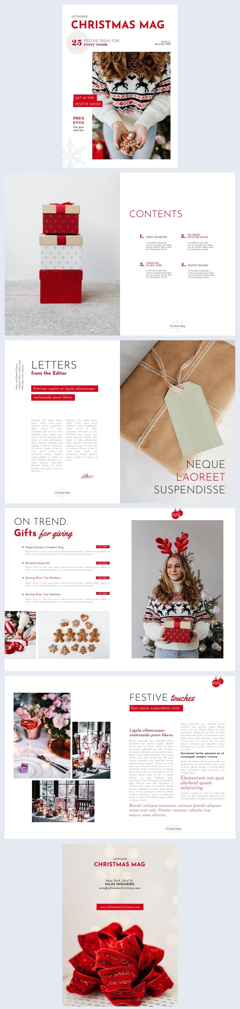 Modern Christmas Magazine Design Example