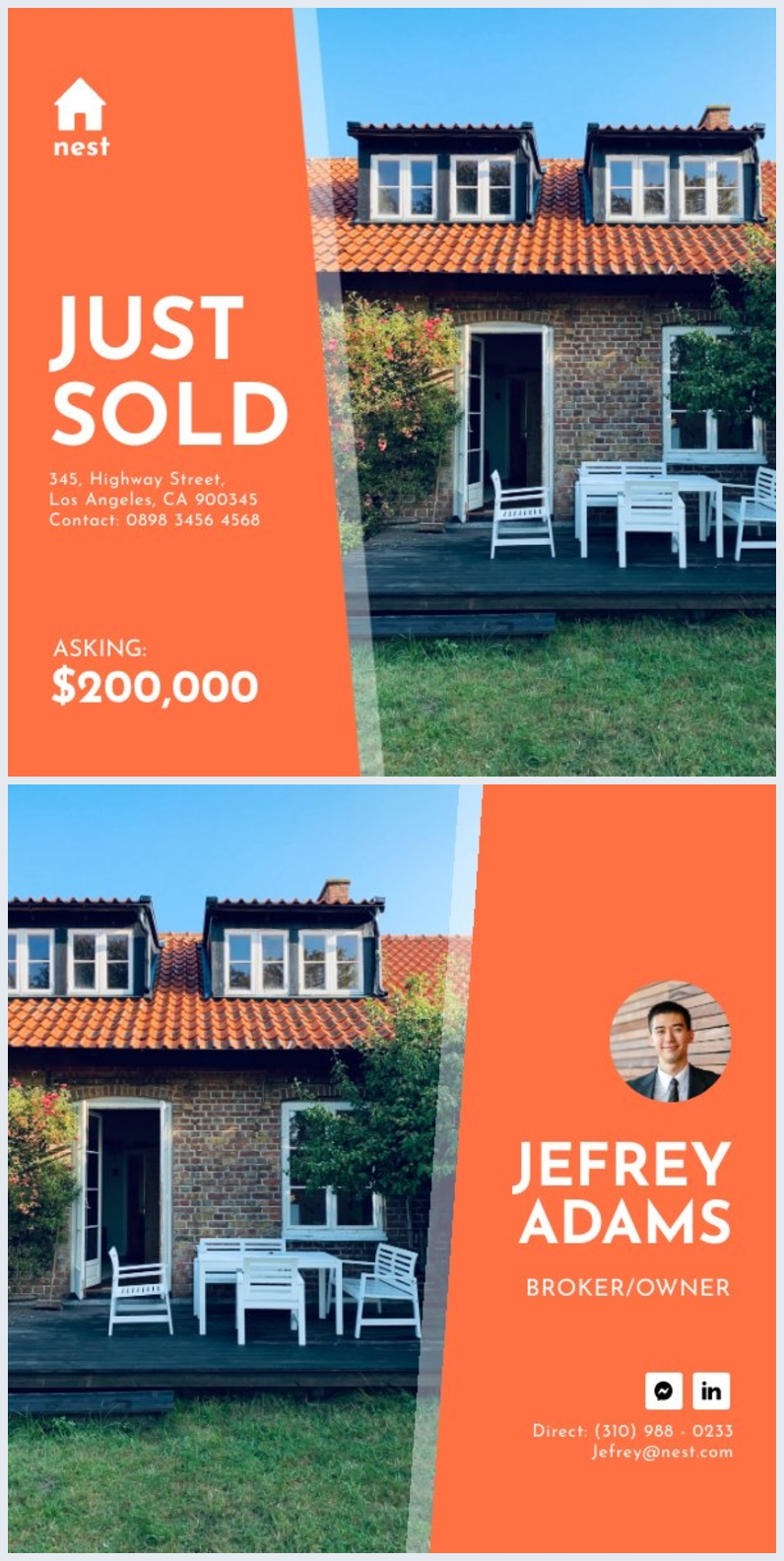Real Estate Just Sold Postcard Design