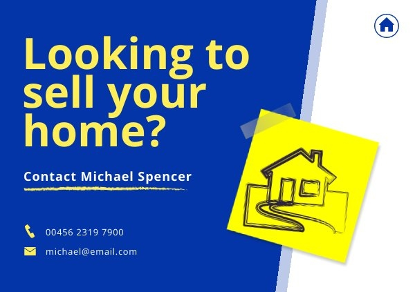 Postkarten-Design für Immobilienangebote