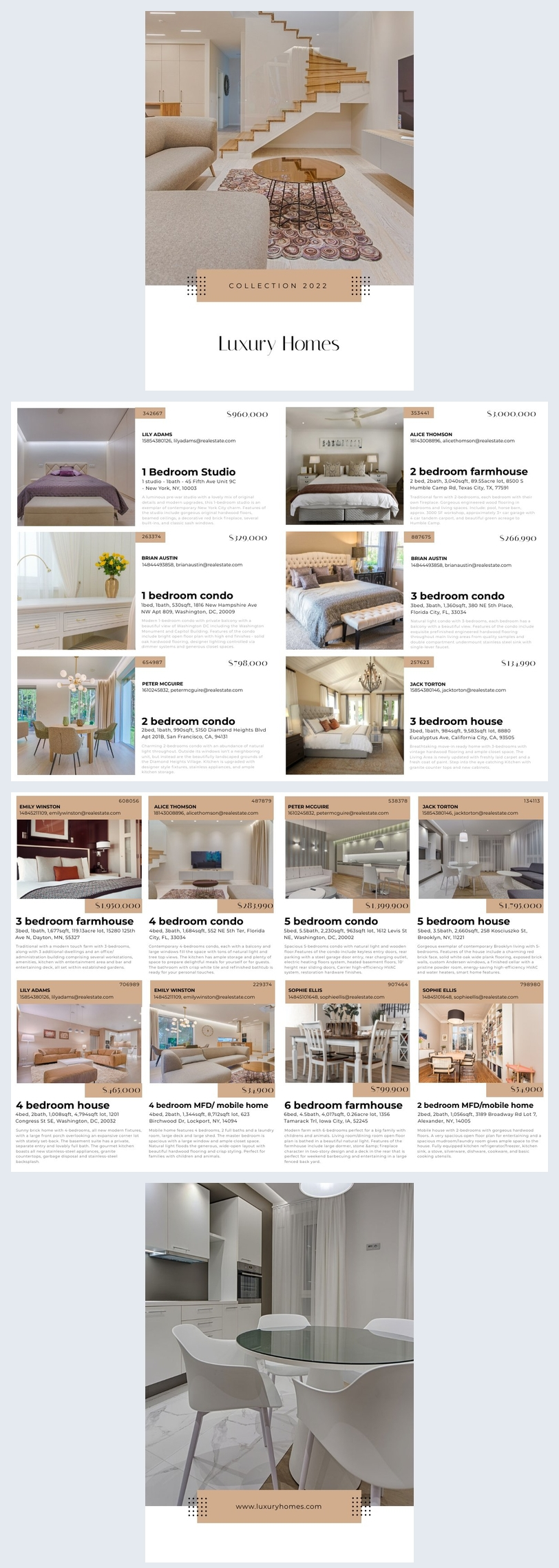 Automated Real Estate Booklet Design Example