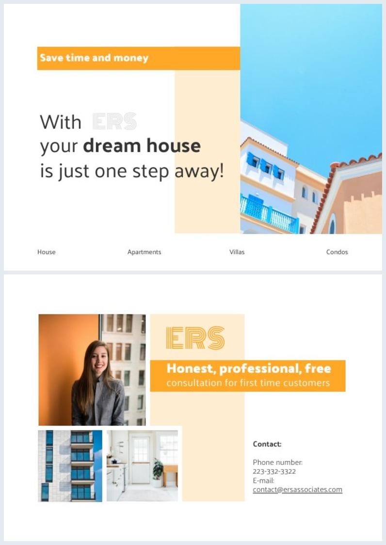 Design de Cartão Postal de Mala Direta de Imobiliária