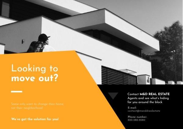 Inspiración de diseño para tarjeta postal de agente inmobiliario local