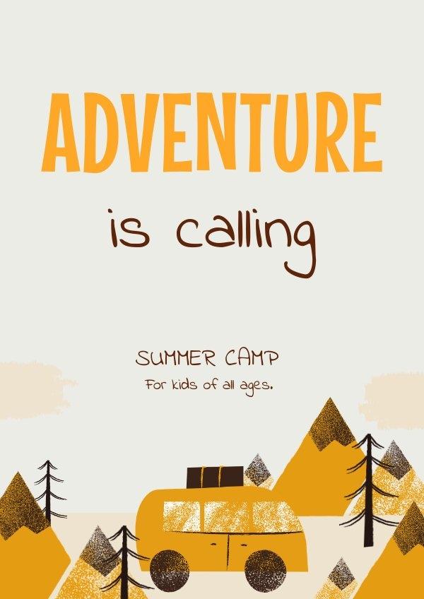 Simple Adventure Typography Poster Design
