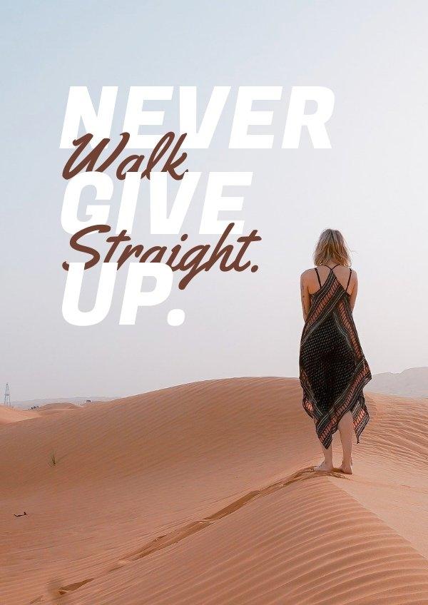 Esempio di grafica per poster motivazionale tipografico