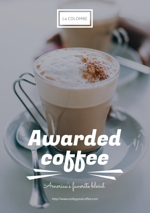Coffee Poster Design Example