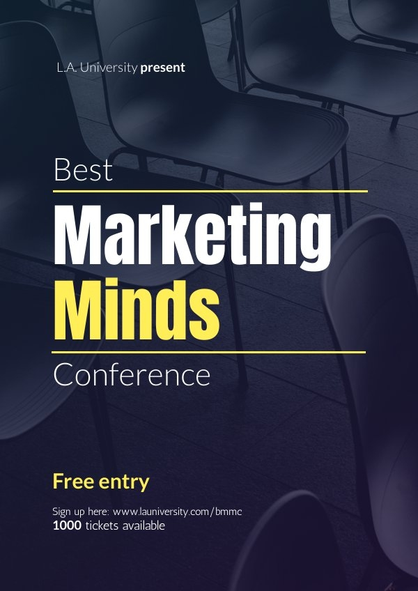 Modern Conference Poster Design Example