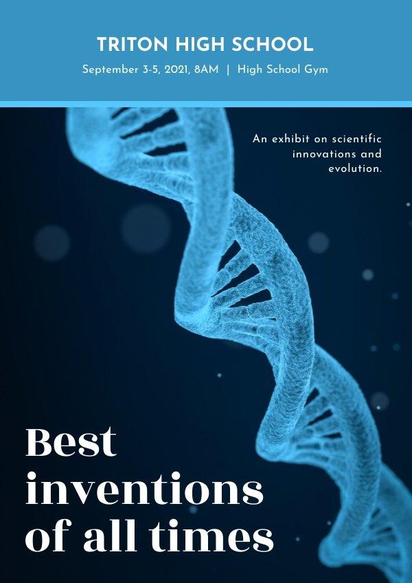 Educational Scientific Poster Design Idea