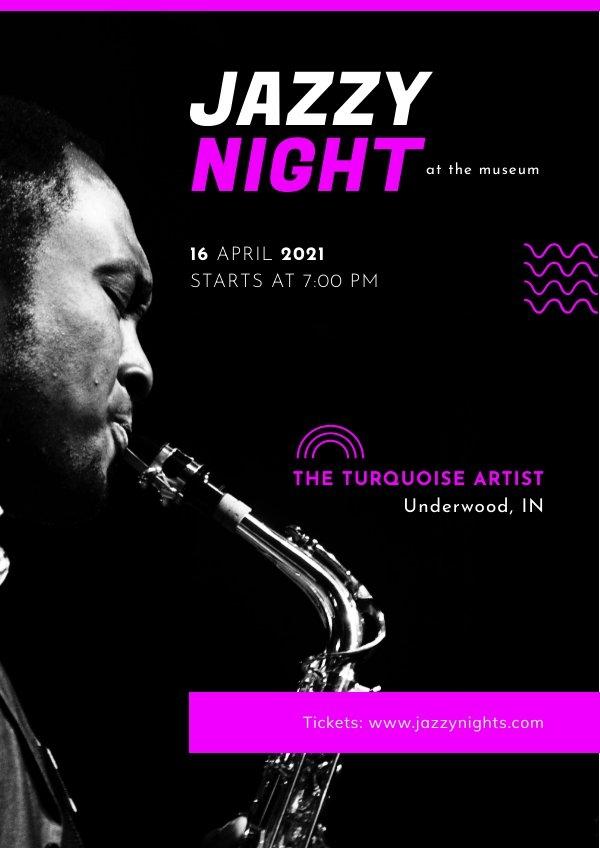 Ejemplo de diseño para cartel de concierto de Jazz clásico