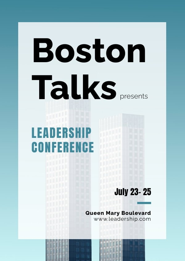Business Event Poster Design Example