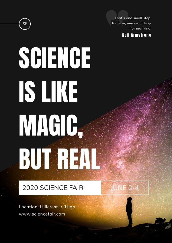 Free Science Poster Design Example