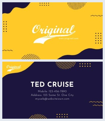 Original Business Card Design Example