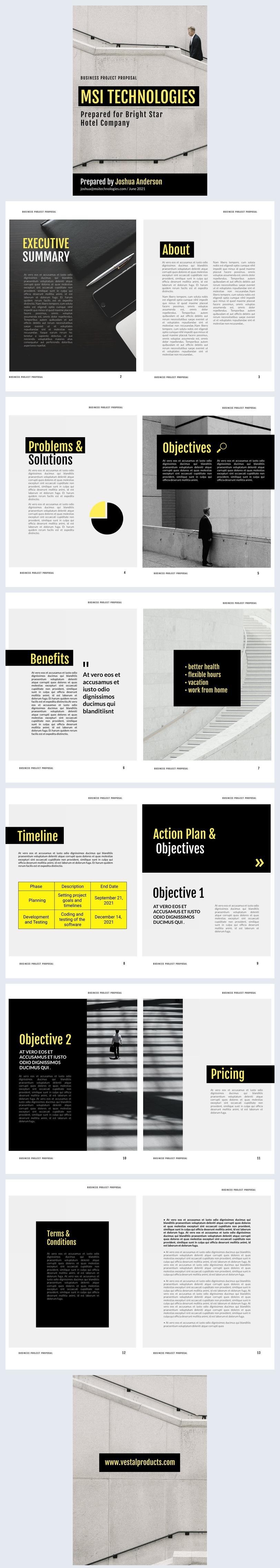 Diseño de muestra para propuesta de proyecto empresarial