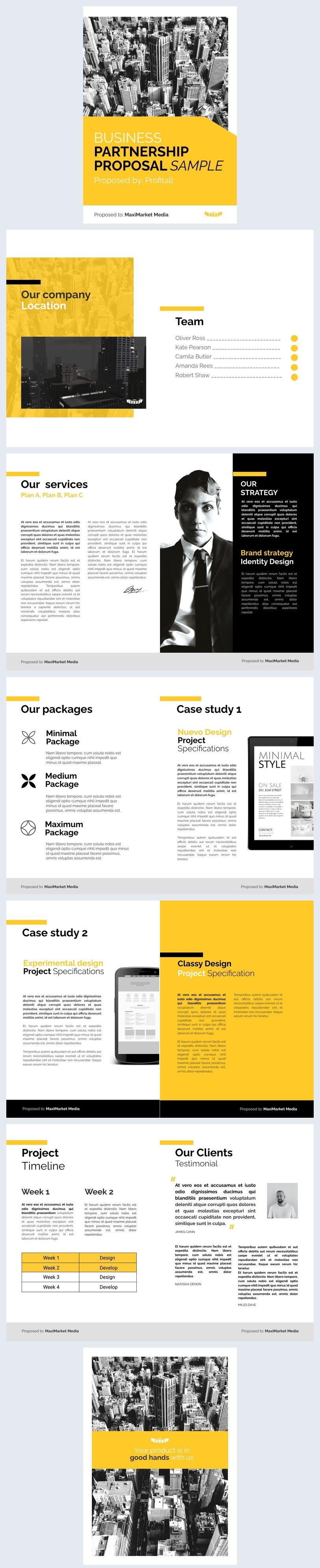 Business Partnership Proposal Design Inspiration
