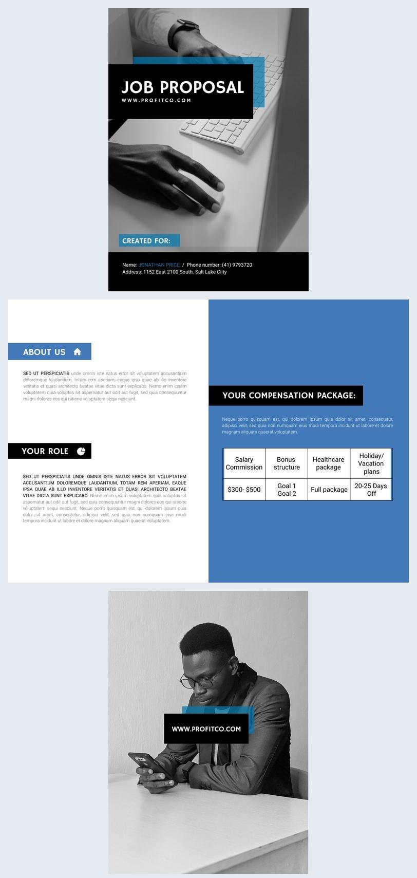 Modernes Stellenangebot Beispiel-Design