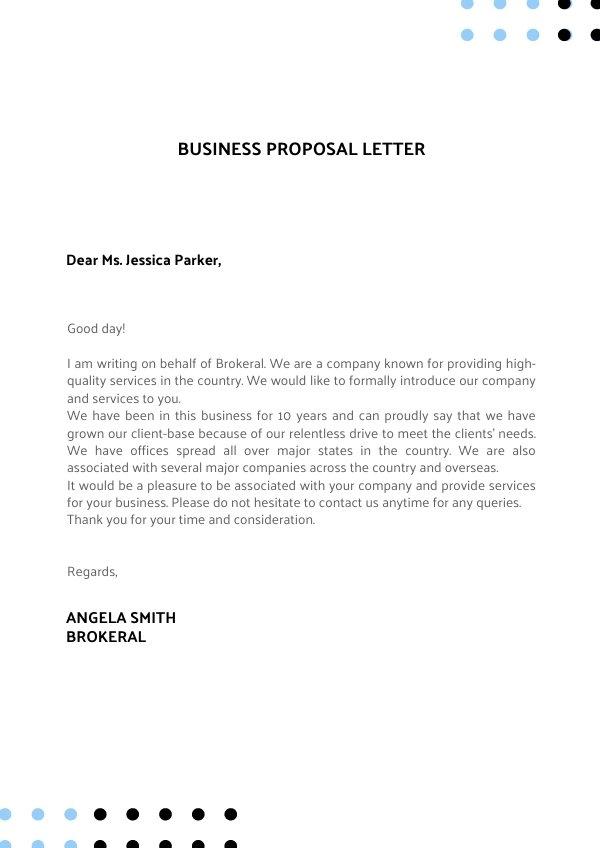 Inspiración de diseño para carta presentación de propuesta comercial