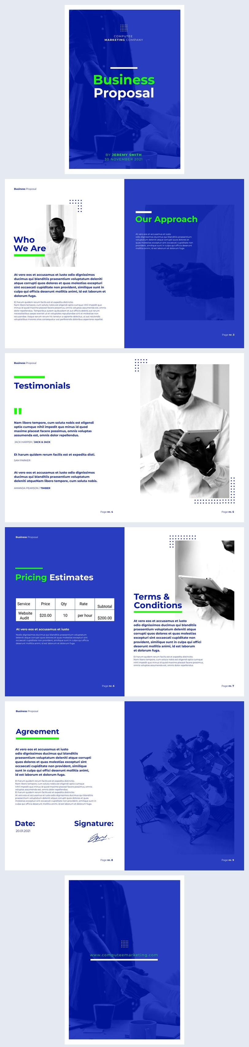 Geschäftsangebot Beispiel-Design